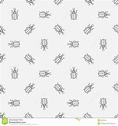 pattern background minimal insect seamless pattern stock vector image 59622045