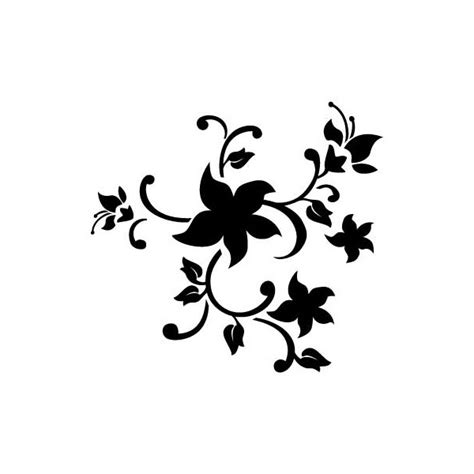 printable stencil designs flowers flowers stencil clipart best