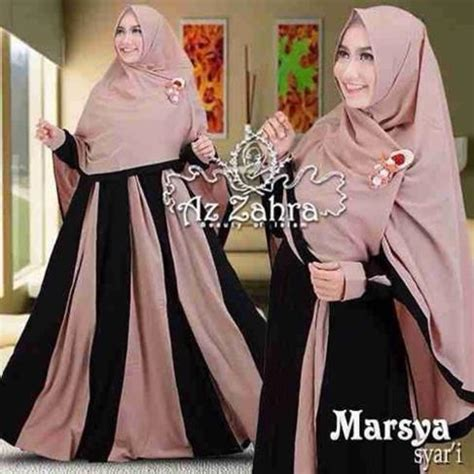 Muslim Syari 2016 baju gamis syar i modern terbaru 2016 marsya by azzahra