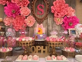 pink flower baby shower baby shower ideas