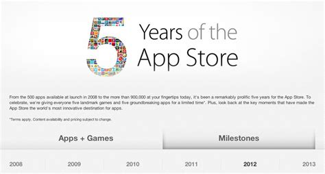5 years of the app store live on itunes