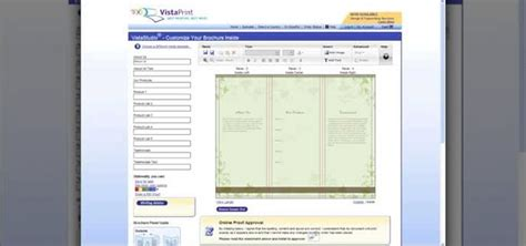 vista print templates how to create a brochure using vistaprint 171 software tips