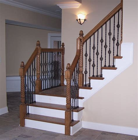 iron banister adorn staircase using beautiful iron stair railing