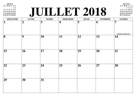 Calendrier De Juillet Calendrier Juillet 2018 Le Calendrier Du Mois De Juillet