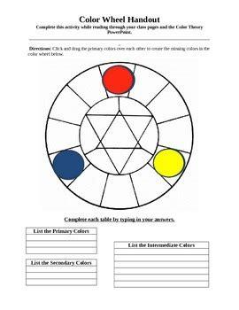 interactive color wheel interactive color wheel handout by natalie kozak phd tpt