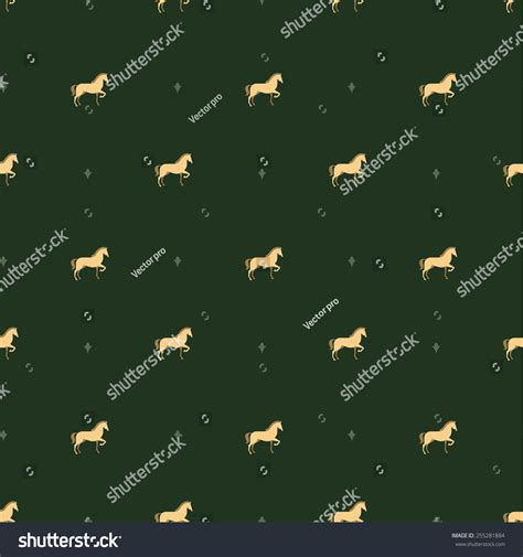 stock horse pattern horse pattern stock vector illustration 255281884