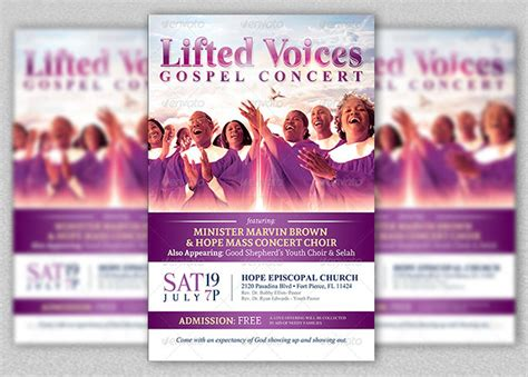 Modern Gospel Concert Church Flyer Templ And Church Postcard S Free Sle Exle For Gospel Church Flyer Template
