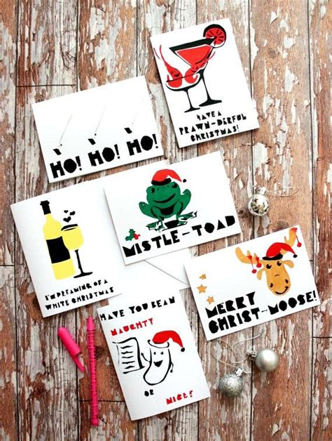 punny christmas gifts ideas screenprinted pun cards by gingerdoodlesdesigns ideas