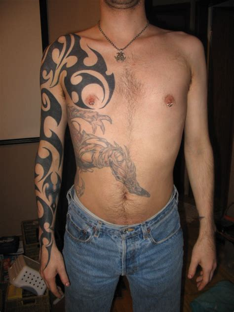 mens tribal sleeve tattoos designs tattoos for on arm designs