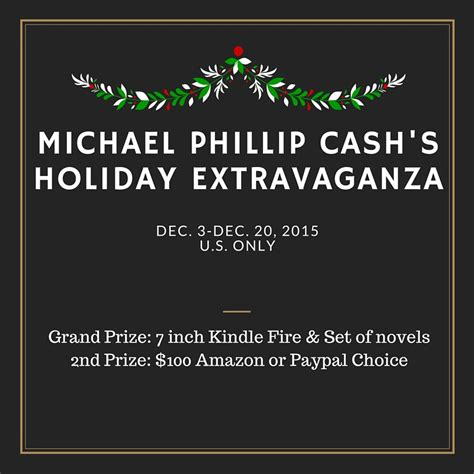 Giveaway Sign Up - michael phillip cash s holiday extravaganza giveaway