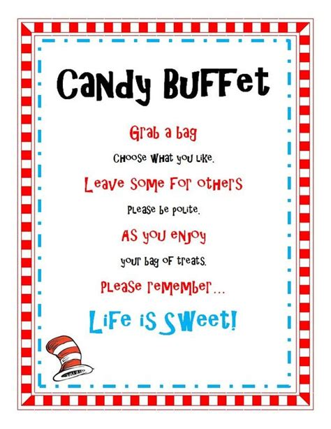 buffet sign wording buffet sayings for baby shower dr seuss birthday baby shower buffet treat