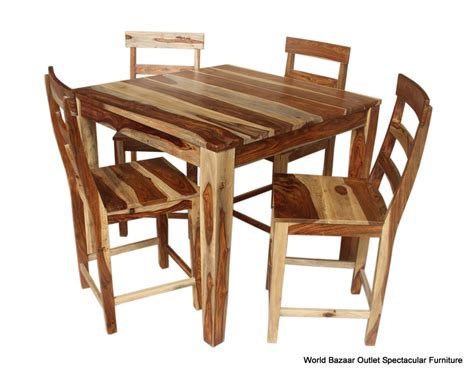 Solid Wood Dining Tables And Chairs 42 Quot L Dining Table And Set Of 4 Chairs Solid Rosewood Wood Grain Finish Ebay