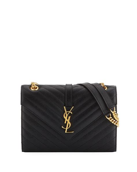 saint laurent  flap monogram medium envelope shoulder bag