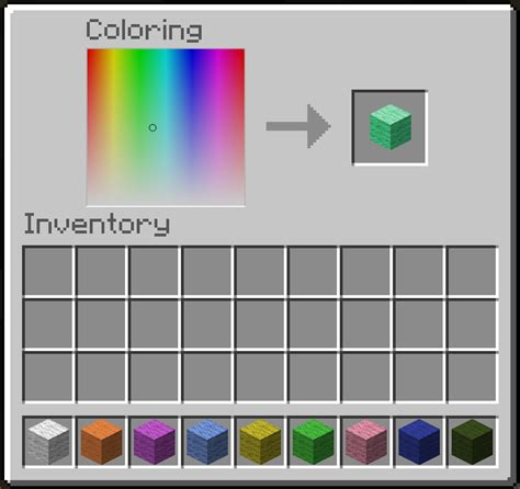 minecraft color id 1 2 5 forge wip anywool 16 5 million colors worth of