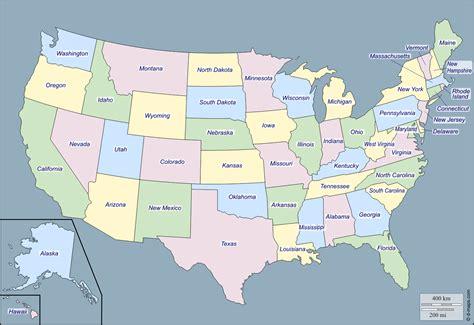Estados Unidos con Alaska y Hawai: Mapa gratuito, mapa