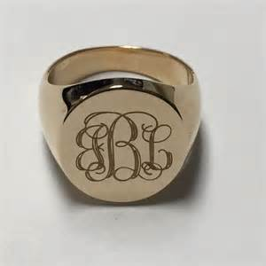 Mens Monogram Ring Men S 14k Yellow Gold Bbl Initial Ring 9 From Hollywood S Closet On Poshmark
