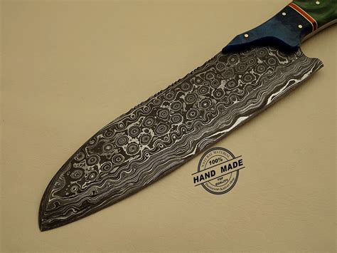 Handmade S - damascus kitchen knife custom handmade damascus steel kitchen