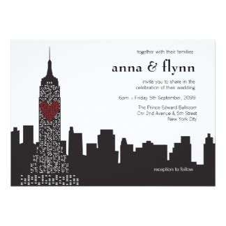 nyc themed wedding invitations new york city invitations announcements zazzle