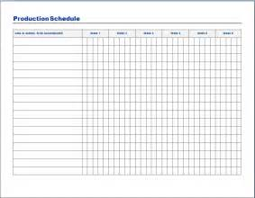 free production schedule template production schedule template free layout format
