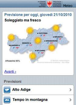 mobile meteo it meteo mobile meteo provincia autonoma di bolzano