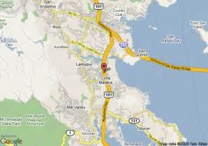 madera california map map of best western corte madera inn corte madera