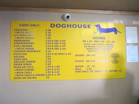 dog house albuquerque menu sign off of central ave picture of dog house drive in