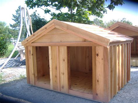 wooden dog house custom ac heated insulated dog house