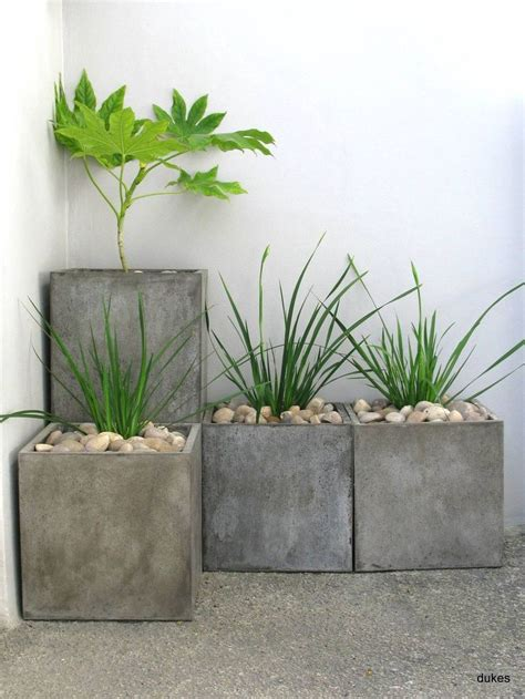 or stacked these concrete planters are great for