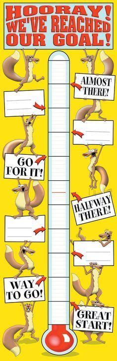 27 Best Fundraising Thermometers And Goal Charts Images On Pinterest Goal Chart Ideas