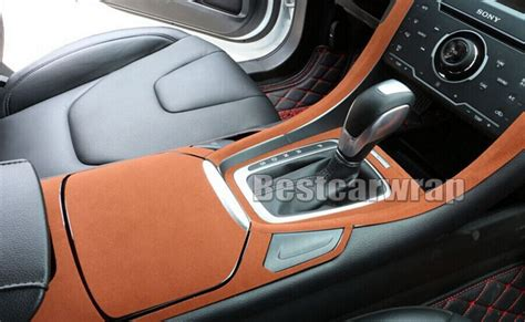 car roof upholstery coming off brown alcantara suede fabric film for car interior roof