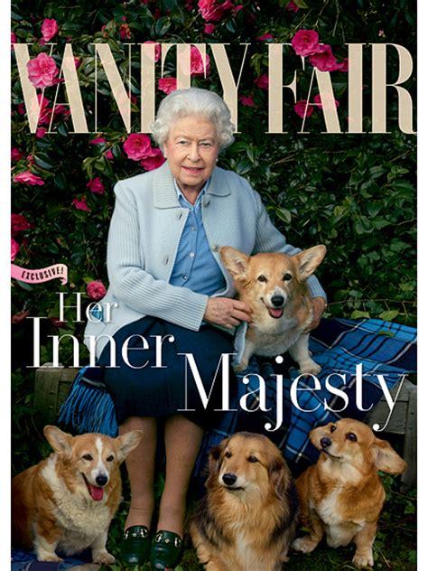 the queen s corgis queen elizabeth covers vanity fair with corgis and dorgis