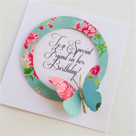 Special Handmade Cards - to a special friend on birthday aqua floral design
