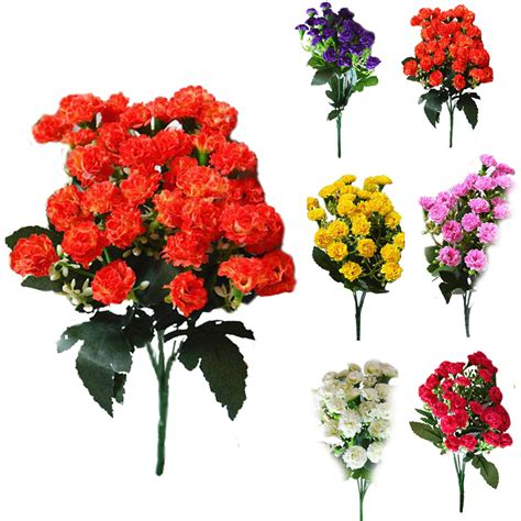 fashion artificial silk flowers carnation 30 buds flowers