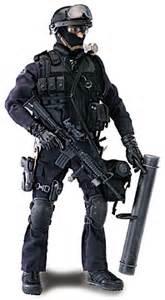 12 in lapd swat officer blue box toys enforcement