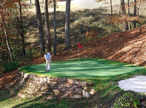backyard putting green from intelliturf inc in atlanta