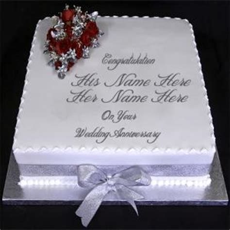 Wedding Cake Messages by Write Name On Wedding Anniversary Cake Wishes