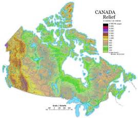 elevation map of canada canada relief map