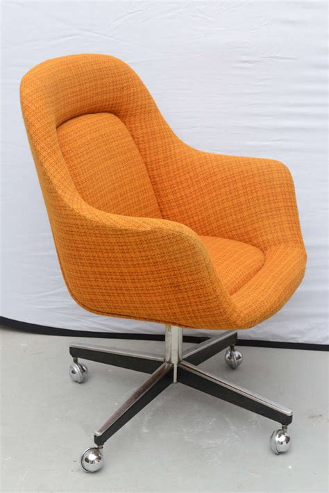 Roller Chair by Max Pearson For Knoll Oversized Roller Chairs 1970s At