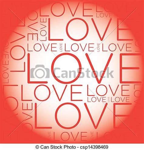 Collagen Lamour clip vecteur de amour mot collage csp14398469