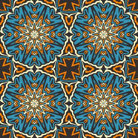 tribal pattern material set 1 pattern 4 orange blue black tribal style fabric