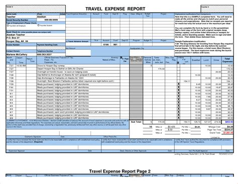 Business Expense Report Excel