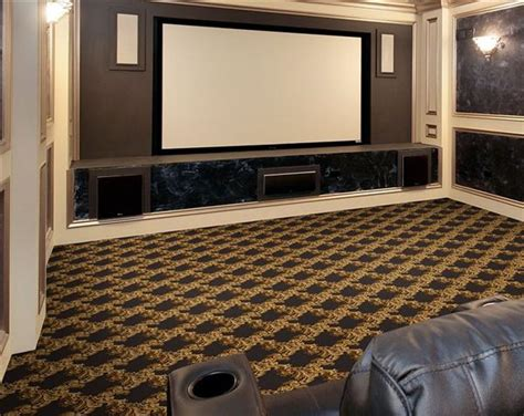 neoclassical home theater carpet