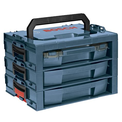 shop bosch 17 25 in 3 drawer blue plastic tool box at
