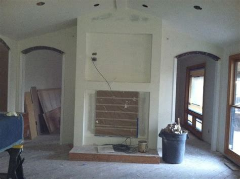 pass through fireplace center of two rooms need