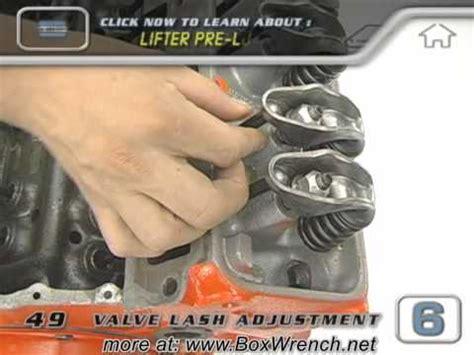 valve lash adjustment video engine building car repair