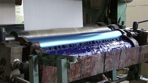 Used Paper Bag Machine - print shop machine detail up stock footage