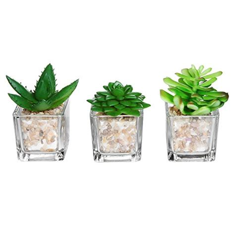 Small Pots For Home Decor Small Glass Cube Artificial Plant Modern Home Decor Faux