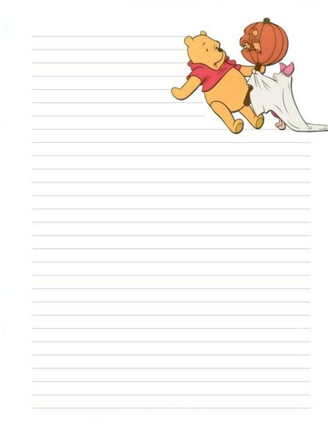 winnie the pooh writing paper winnie the pooh stationary letterpad printable