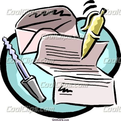 Business Letter Clipart Writing Business Letter Clipart