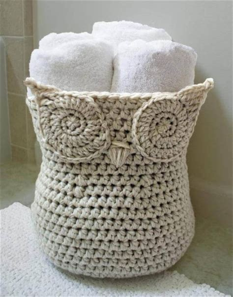 crochet pattern for yarn basket 46 free amazing crochet baskets for storage diy to make